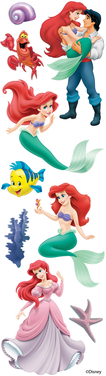 Disney Slims Dimensional Stickers-The Little Mermaid