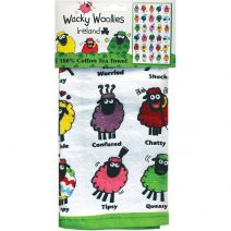 Wacky Woollies Single Tea Towel-