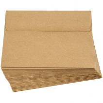Smooth A7 Kraft Envelopes  50 Per Pack, Brown