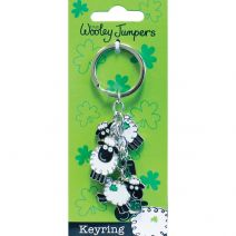 "Dublin Gift Wooley Jumpers Charm Keyring 3.5""-"
