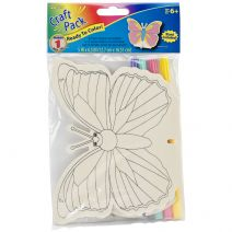 Darice Butterfly Wood Stencil Craft Project Kit with Markers 6.5""