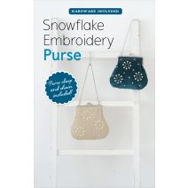Zakka Workshop Books-Snowflake Embroidery Purse Kit