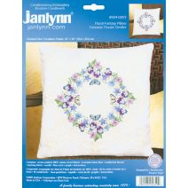 "Janlynn Candlewicking Embroidery Kit 14""X14""-Floral Fantasy-Stitched In Thread"