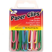 "Jumbo Paperclips 2"" 30/Pkg-Assorted"