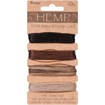 Darice Hemp Cord Set  Assorted Earthy Colors  10 lb Size  170 ft Length  1 Each