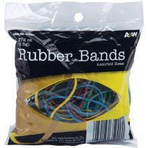 Rubber Bands 1.5oz-Assorted Colors & Sizes