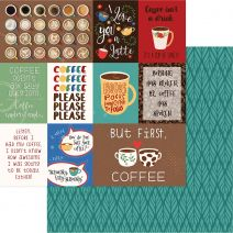 "Daily Grind Double-Sided Cardstock 12""X12""-But First... Coffee"