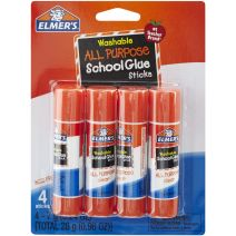Elmer'S Washable School Glue Stick 4/Pkg-.24Oz