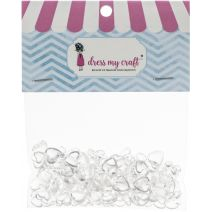 Dress My Crafts Water Droplet Embellishments 150/Pkg-Heart Assorted
