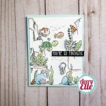"Avery Elle Clear Stamp Set 4""X6""-Underwater Backgr"