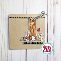 "Avery Elle Clear Stamp Set 4""X3""-Look How Big"