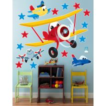 Birthdayexpress Airplane Adventure Room Decor Giant Wall Decals