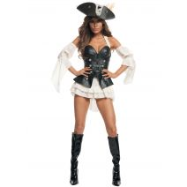 Starline Womens Black Pearl Sexy Pirate Costume Set, Black, Large