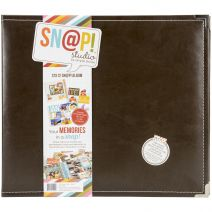 Snap Studio Collection 12 X 12 Faux Leather Album Brown