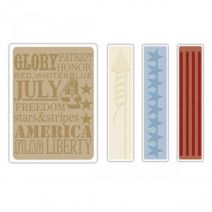 Sizzix Texture Fades Embossing Folder, Americana Background and Borders Set