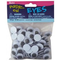 Darice Paste On Eyes Movable Black 15mm