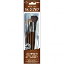 Royal Brush Gold Taklon Value Pack Brush Set With Mop