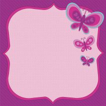 Scrapbook Paper 3D Butterfly 12 X 12 Inches