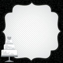 Scrapbook Paper 3D Design Wedding 12 X 12 Inches