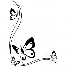 Darice 4.25 x 5.75 Embossing Folder: Corner Design, Butterflies
