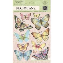 K&Company Floral Butterfly Grand Adhesions Sticker By Susan Winget