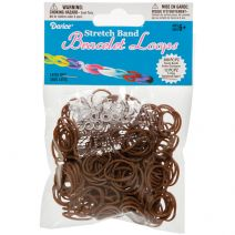 Stretch Band Bracelet Loops and S Clips Brown
