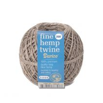 Darice Hemp Cord 6 Strand Fine Natural 200 feet Value Pack