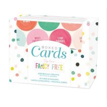 American Crafts Page Evans Fancy Free A2 Cards Boxed Set