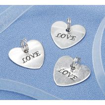 Hirschberg Metal Love Heart Charms
