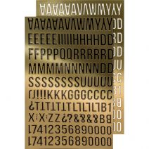 Advantus - Tim Holtz - Idea-ology Collection - Metallic Stickers - Alpha Gold
