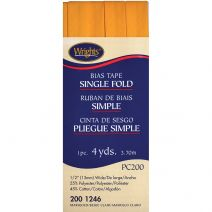 "Wrights Single Fold Bias Tape .5""X4yd-Marigold"
