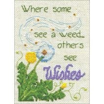 "Design Works Counted Cross Stitch Kit 5""X7""-Dandelion Wishes (14 Count)"