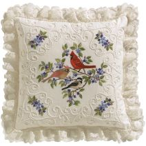 "Janlynn Candlewicking Embroidery Kit 14""X14""-Birds & Berries-Stitched In Thread"