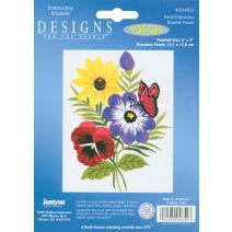 "Janlynn Embroidery Kit 5""X7""-Floral-Stitched In Floss"