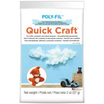 Fairfield Poly-Fil Quick Craft Premium Polyester Fiberfill-2oz