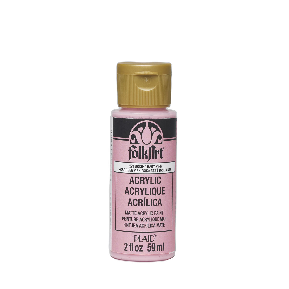Plaid Folkart Acrylic Paint In Assorted Colors (2 Oz),Bright Baby Pink