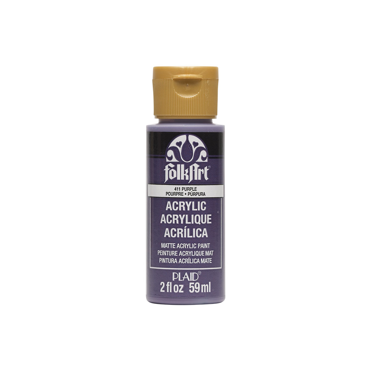 Plaid Folkart Acrylic Paint In Assorted Colors (2 Oz),Purple