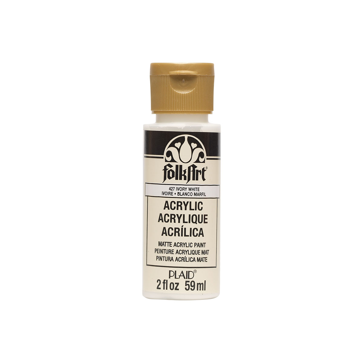 Plaid Folkart Acrylic Paint 2Oz-Ivory White