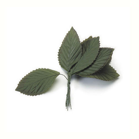 Darice Large Rose Leaf Green 1-1/2 x 3 inches