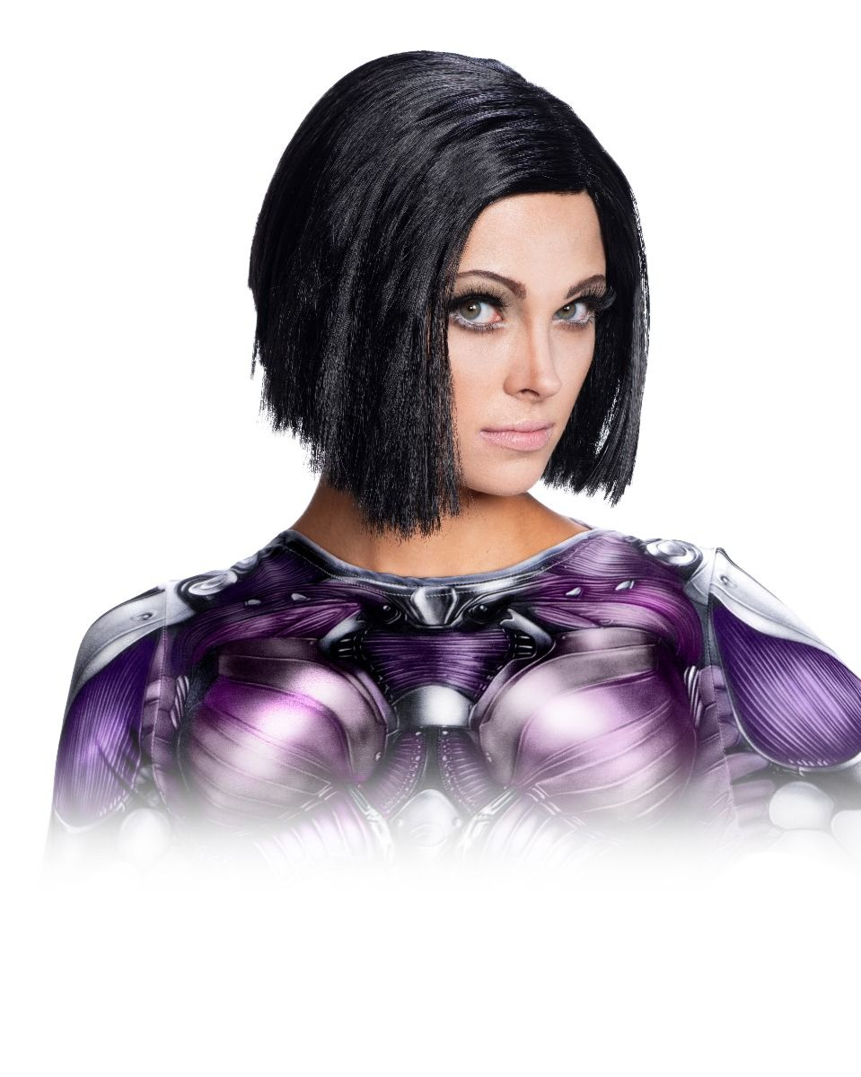 Rubie's Women's Standard Battle Angel Adult Alita Costume Wig, One Size