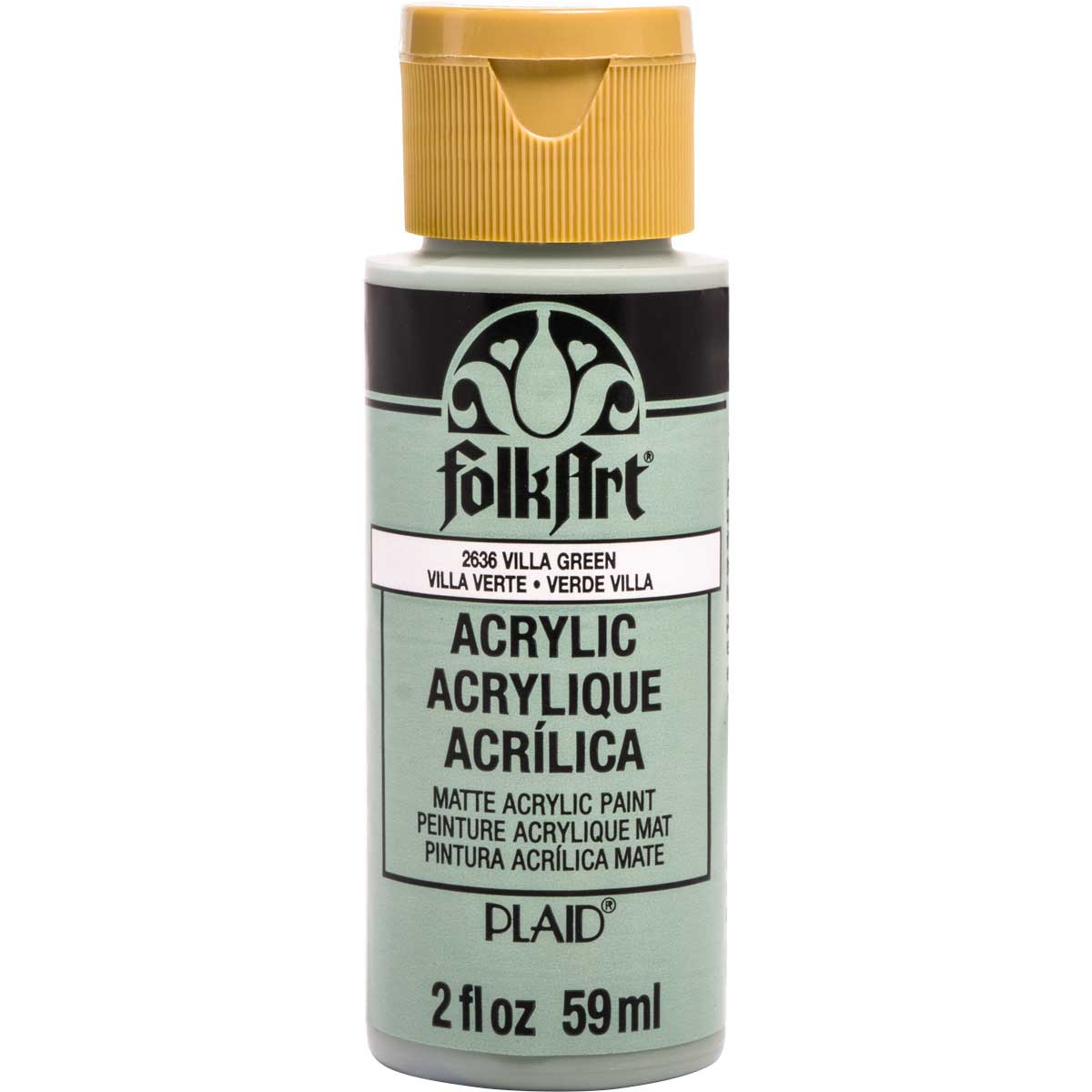 Plaid Folkart Acrylic Paint 2Oz-Villa Green