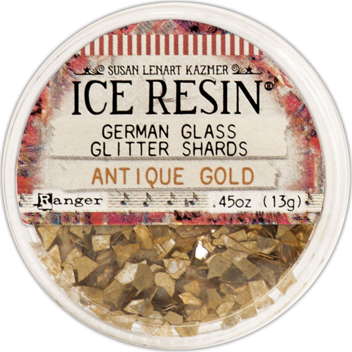 Ranger Ice Resin Glass Glitter Shards Antique Gold