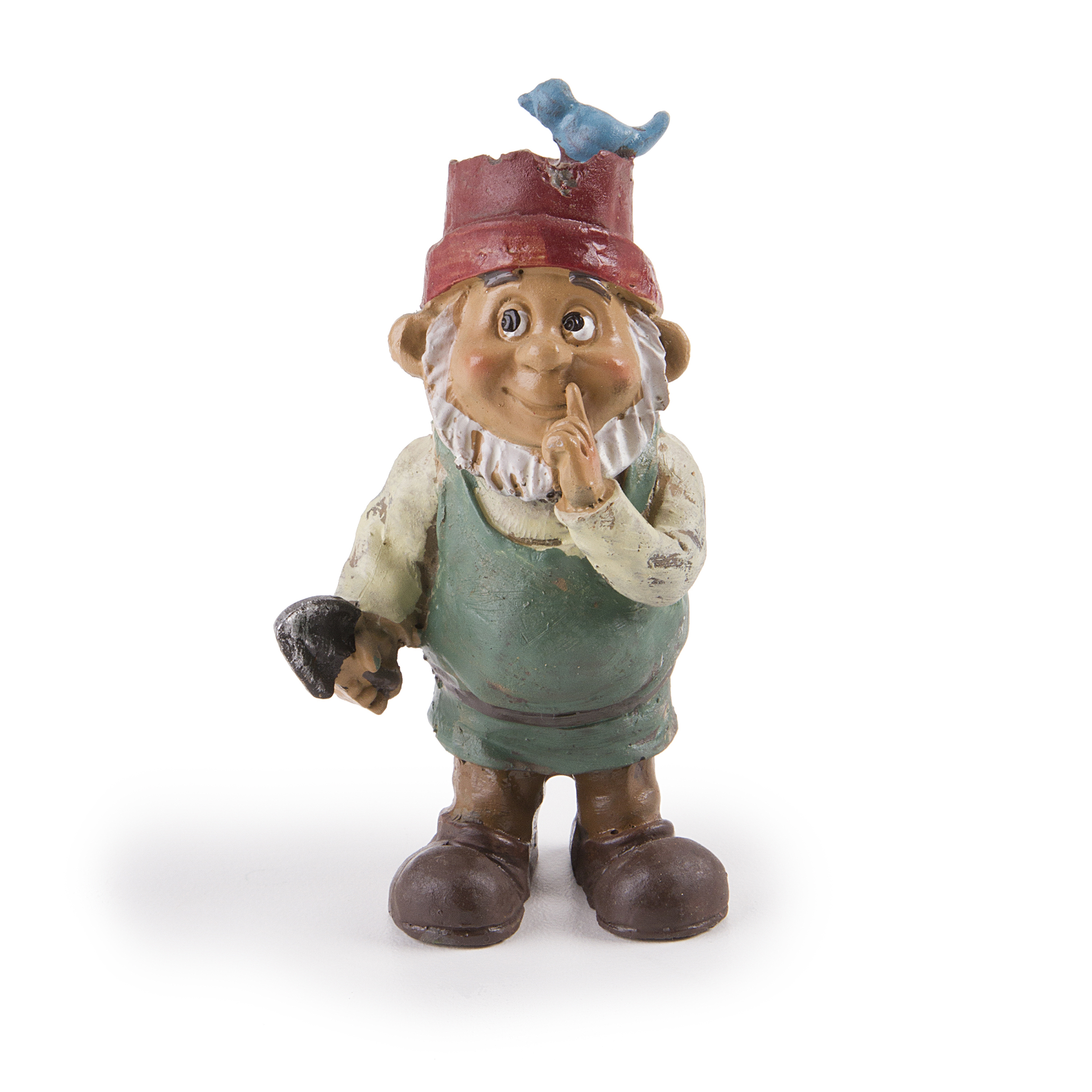 Darice Yard and Garden Minis Bird Hat Gnome Boy Resin 3.5 Inches