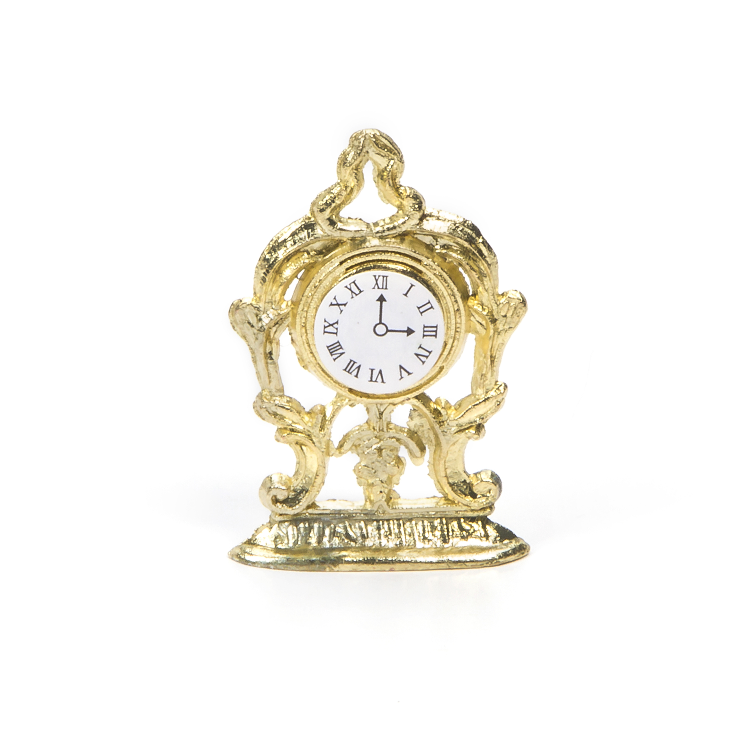 Darice Timeless Minis Mantel Clock Gold 0.875 X 1.375 inches