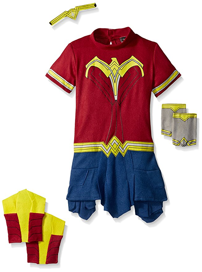 Rubie's Costume Dawn of Justice Wonder Woman EZ-On Costume Romper 2T