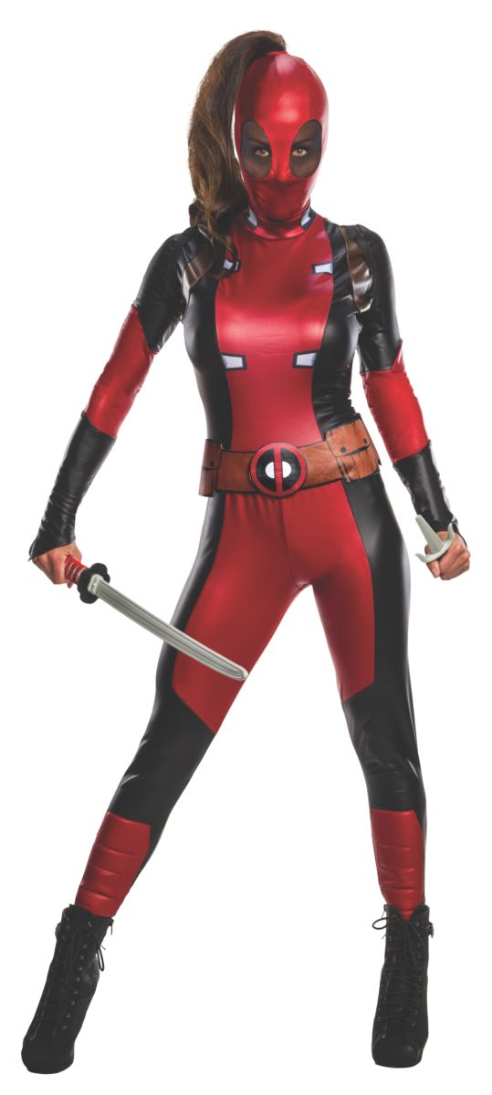Secret Wishes Women's Deadpool Costume, Large