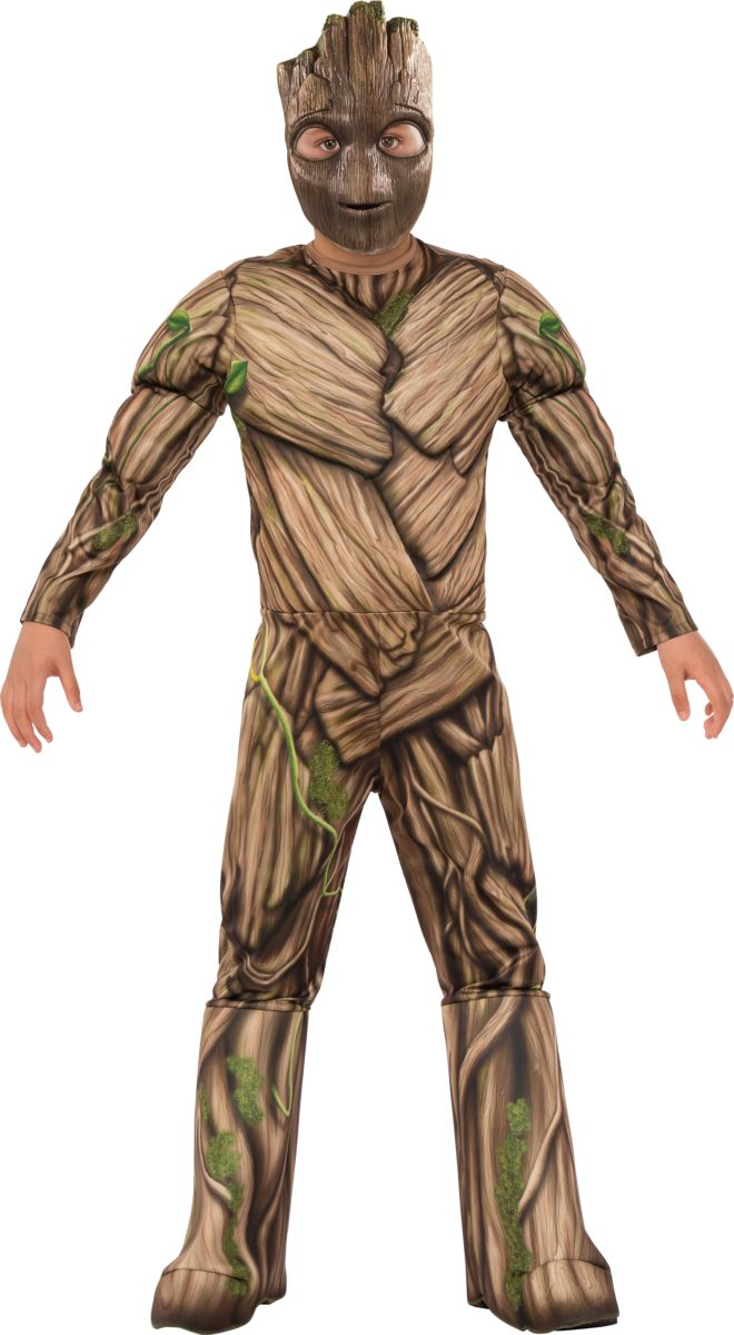 Rubies Kid's Guardians Deluxe Muscle Chest Groot Costume Male Small