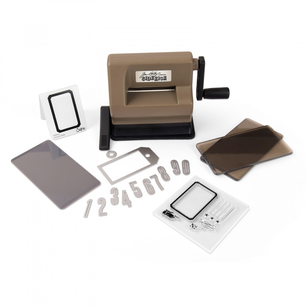 Sizzix Sidekick Starter Kit Featuring Tim Holtz-Brown & Black