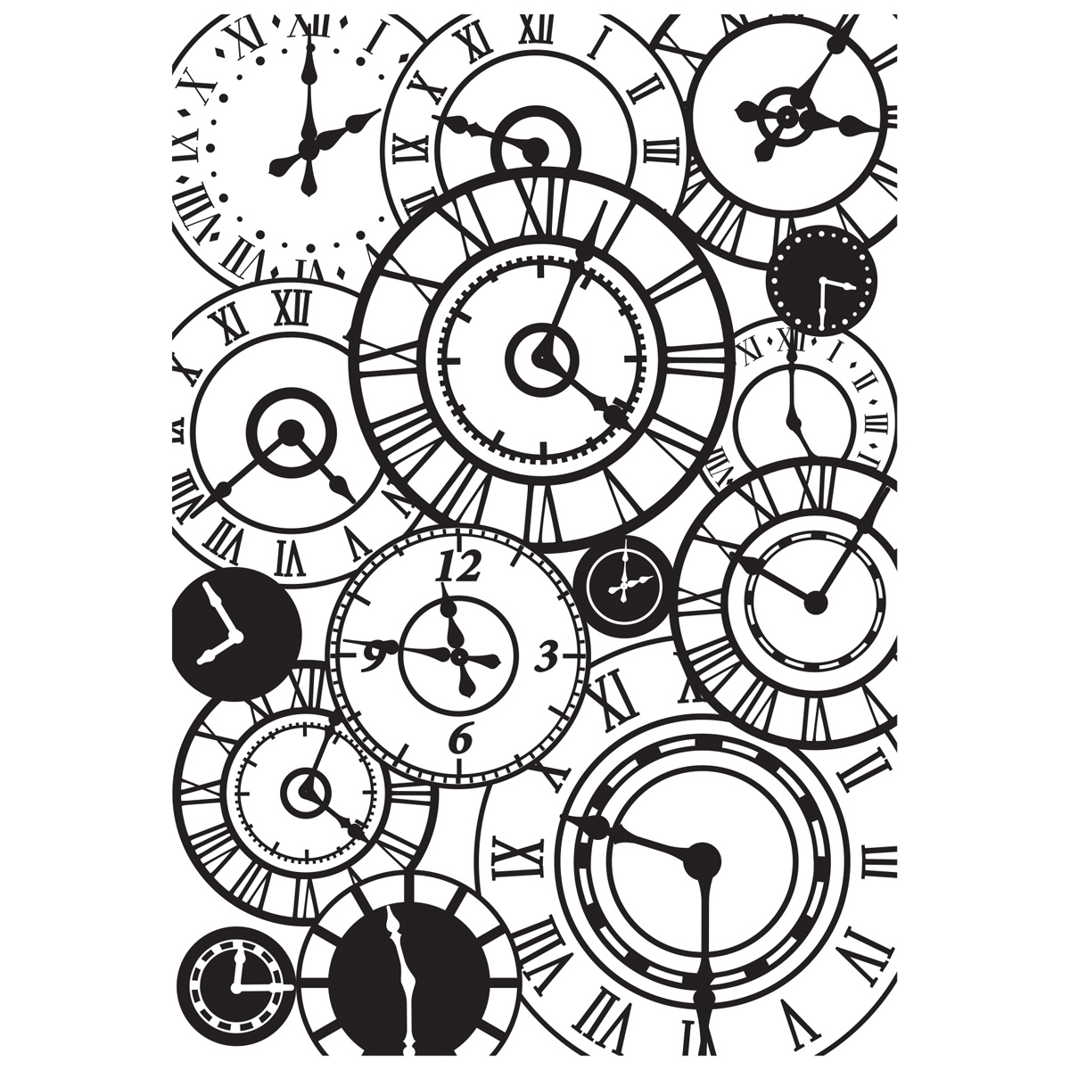 Kaiser Craft Embossing Folder Clocks