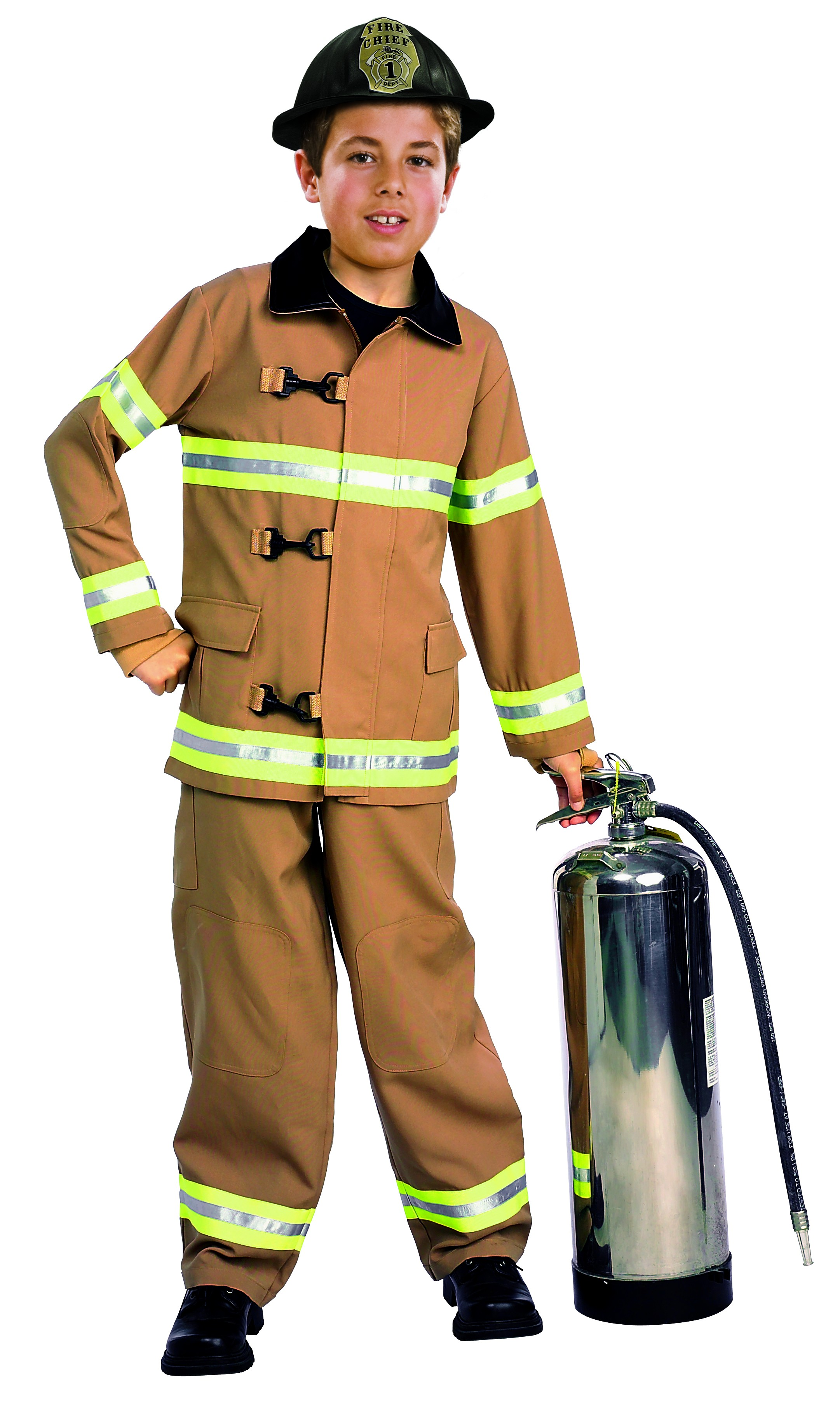 Young Heroes Childs Fire Fighter Costume Toddler